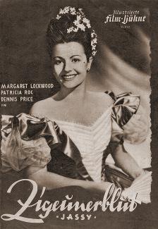 Illustrierte Film Bühne magazine with Margaret Lockwood in Jassy.  1947, issue number 410.  (German).  Zigeunerblut.
