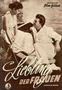 Illustrierte Film Bühne magazine with Natasha Parry and  Gérard Philipe in Knave of Hearts.  (German).  Liebling der Frauen.