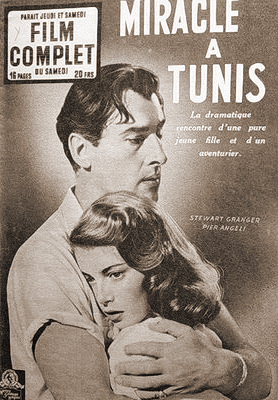 Film Complet magazine with Stewart Granger and  Pier Angeli in The Light Touch.  (French).  Miracle a Tunis.