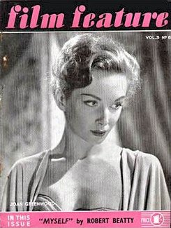 Film Feature magazine with Joan Greenwood.  Volume 3, issue number 6.