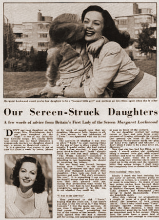 Film Monthly magazine with Julia Lockwood and  Margaret Lockwood.