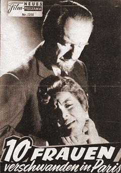 Film Neues Programm magazine with George Sanders in Bluebeard's Ten Honeymoons.  Issue number 2200.  (German).  10 Frauen verschwanden in Paris.