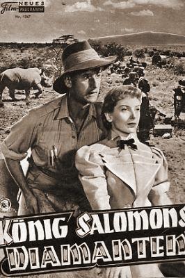 Film Neues Programm magazine with Stewart Granger and  Deborah Kerr in King Solomon's Mines.  Issue number 1367.  (German).  König Salomons Diamanten.