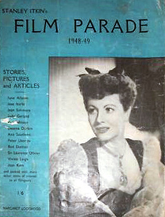 Film Parade magazine with Margaret Lockwood.  1949.  Stanley Itkin's stories, pictures, and articles.