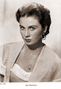 Jean Simmons in a film star card from RKO