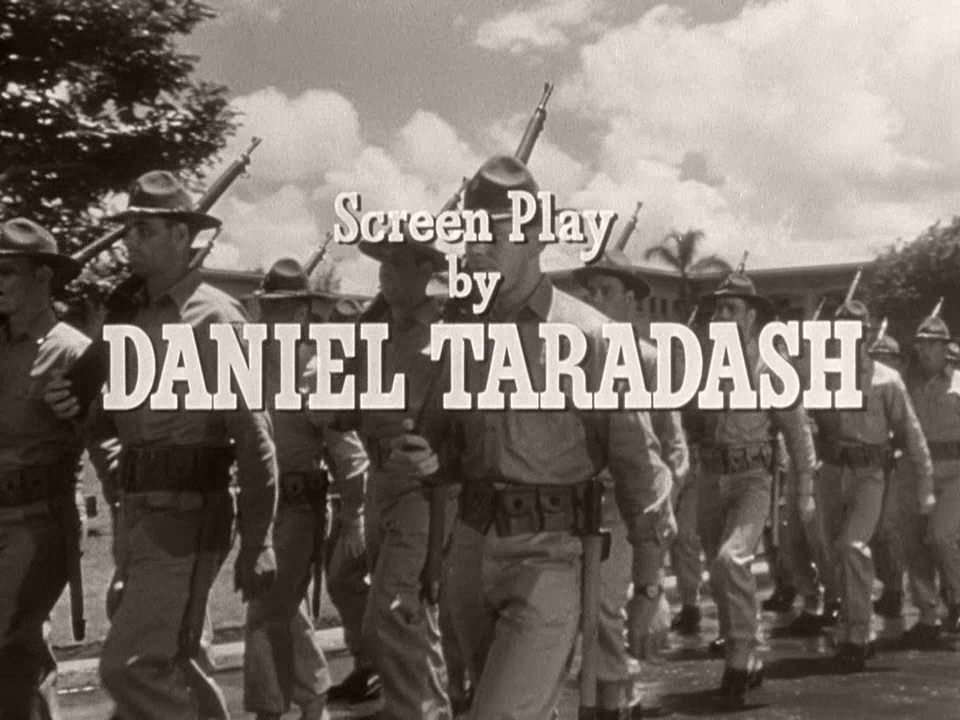 Main title from From Here to Eternity (1953) (10).  Screen play by Daniel Taradash