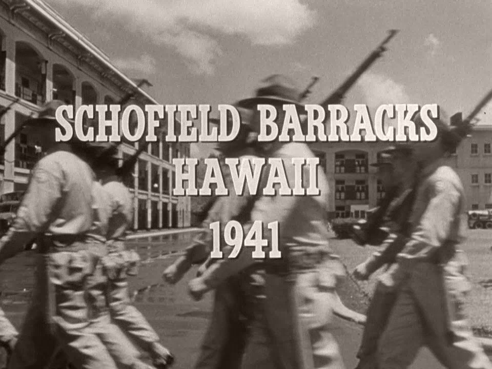 Main title from From Here to Eternity (1953) (17).  Schofield Barracks Hawaii 1941