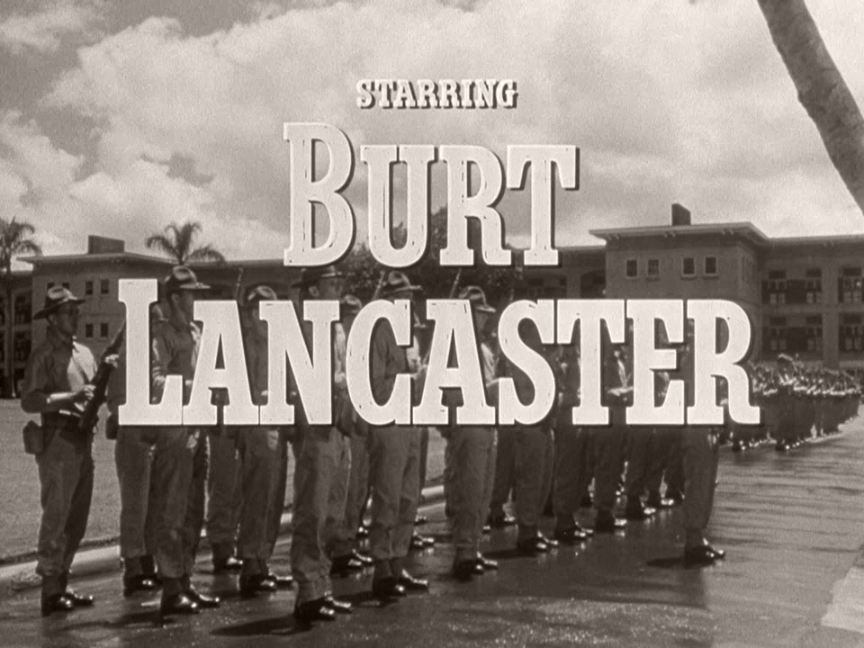 Main title from From Here to Eternity (1953) (4).  Starring Burt Lancaster