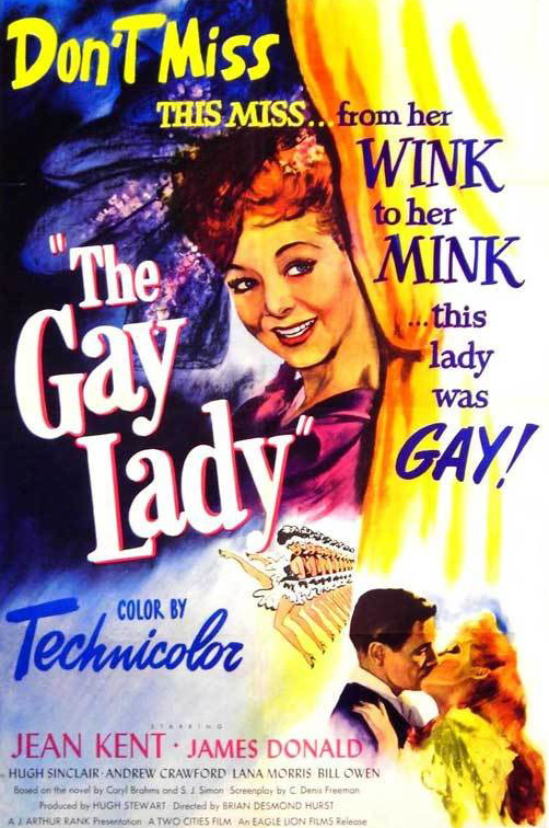 American poster for The Gay Lady [Trottie True] (1949) (1)