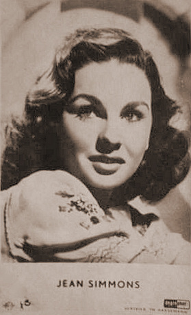 A German film card featuring Jean Simmons