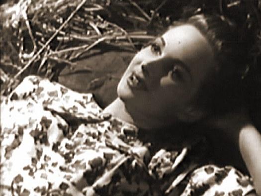 Joan Greenwood (as Gay Hardwicke) in a screenshot from A Girl in a Million (1945) (2)