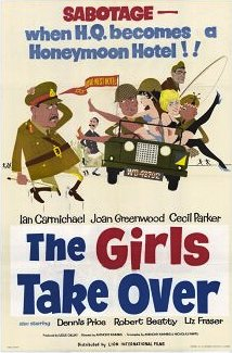 American poster for The Girls Take Over [The Amorous Prawn] (1962) (1)