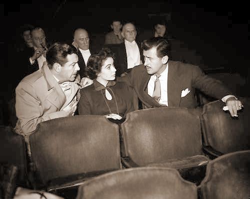 Photo of Robert Taylor, Elizabeth Taylor and Stewart Granger
