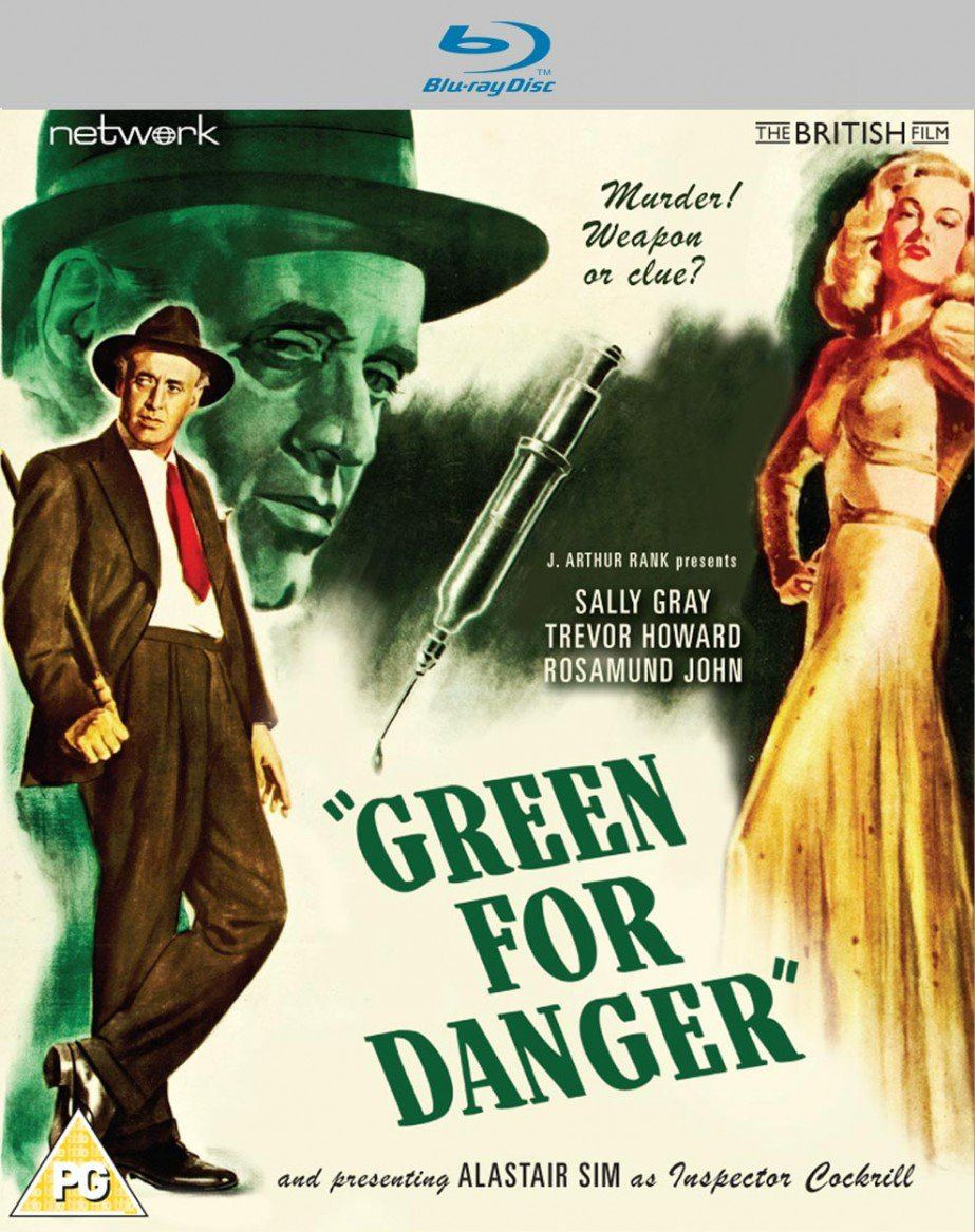 Green for Danger Blu-ray from Network and the British Film [2019]. Alastair Sim and Sally Gray