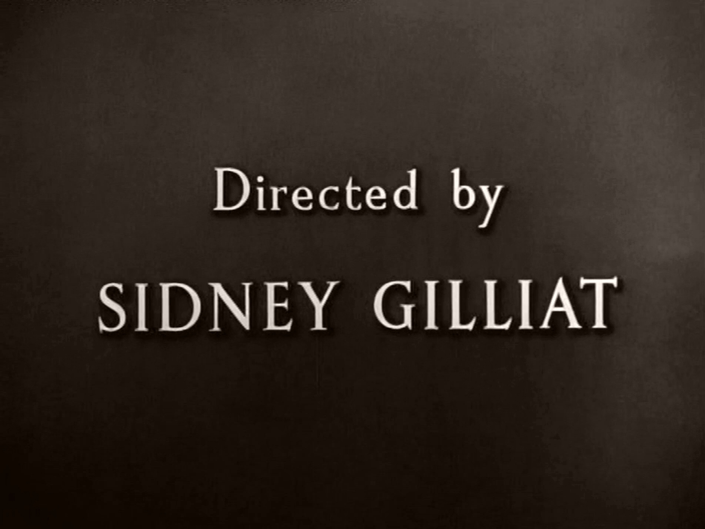 Main title from Green for Danger (1947) (10).  Directed by Sidney Gilliat