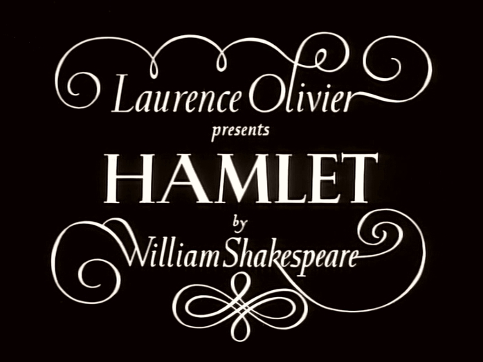 Main title from Hamlet (1948) (2).  Laurence Olivier presents Hamlet by William Shakespeare