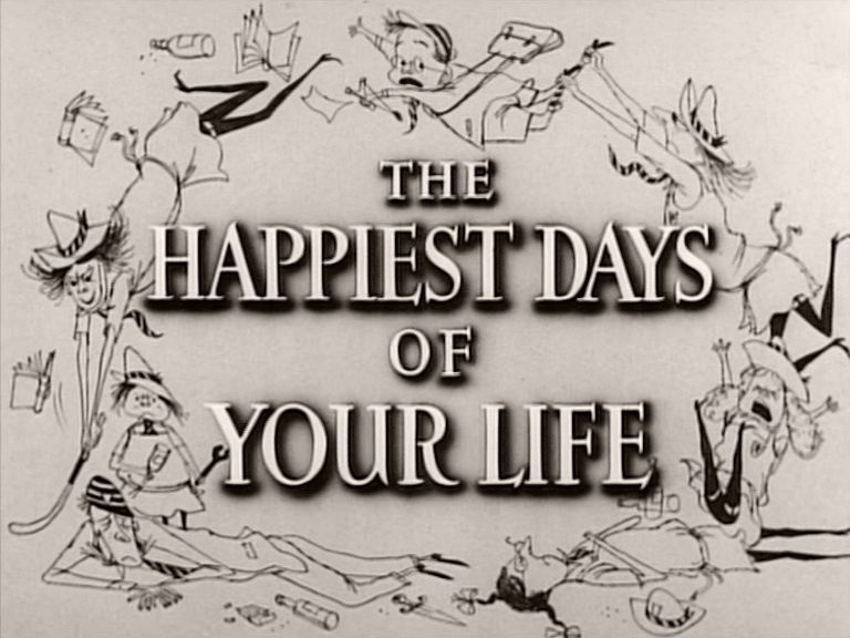 Main title from The Happiest Days of Your Life (1950)