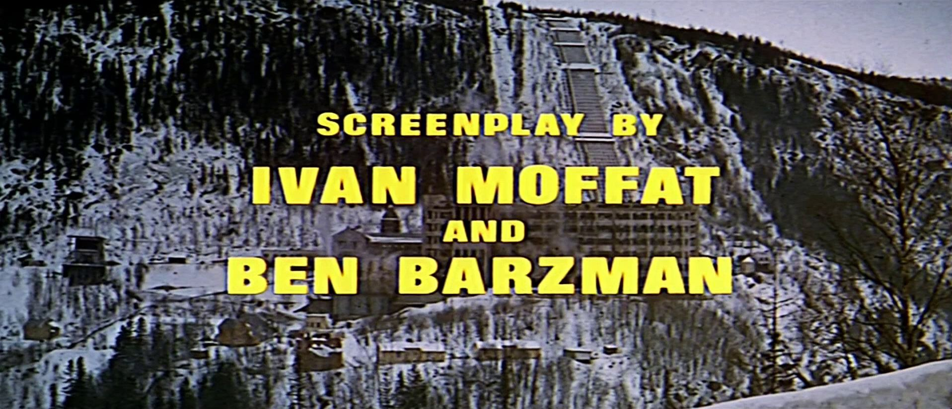 Main title from The Heroes of Telemark (1965) (16). Screenplay by Ivan Moffat and Ben Barzman
