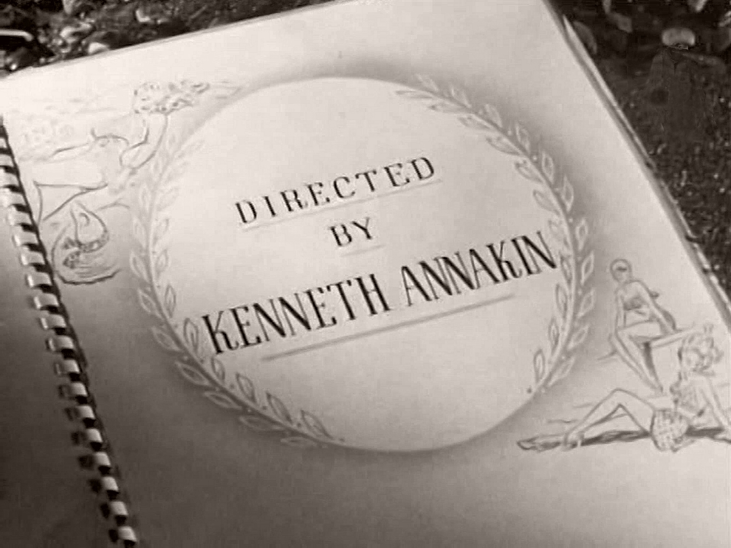 Main title from Holiday Camp (1947) (13).  Directed by Kenneth Annakin