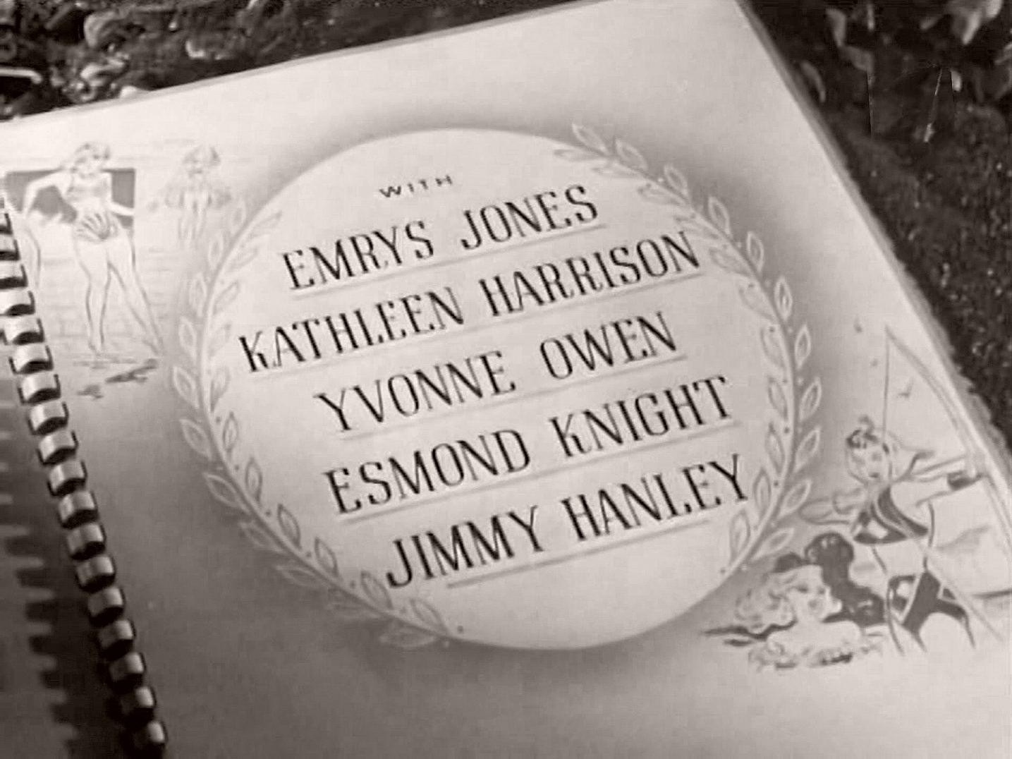 Main title from Holiday Camp (1947) (5).  With Emrys Jones Kathleen Harrison, Yvonne Owen, Esmond Knight, Jimmy Hanley