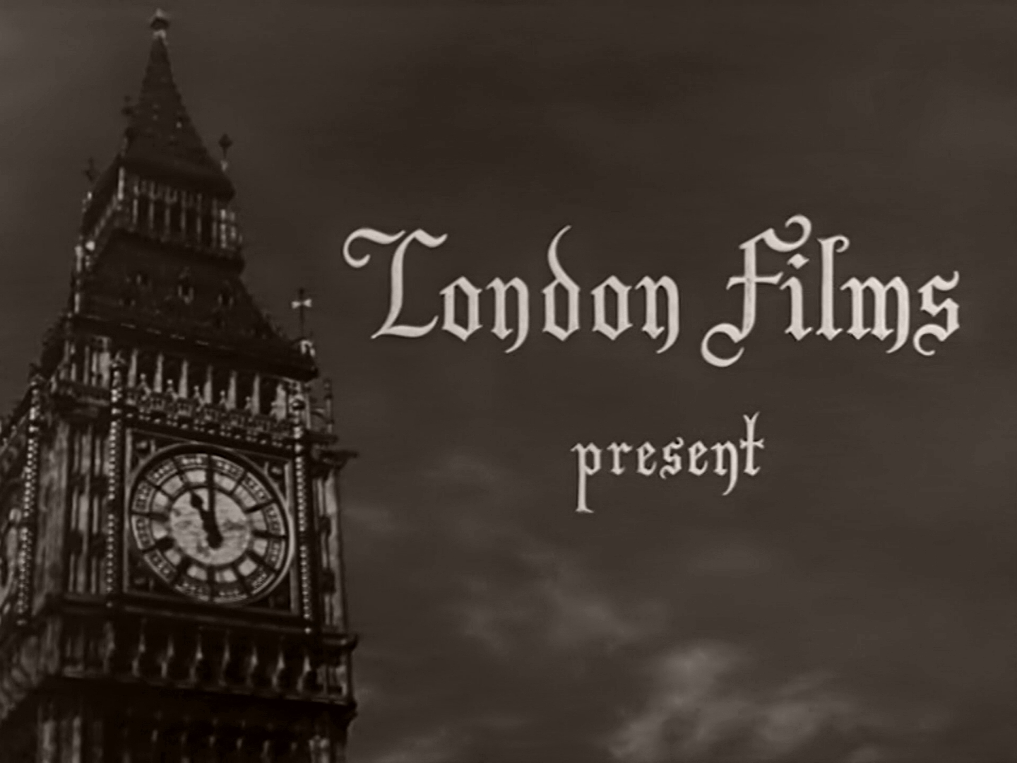 Main title from Home at Seven (1952) (1). London Films present