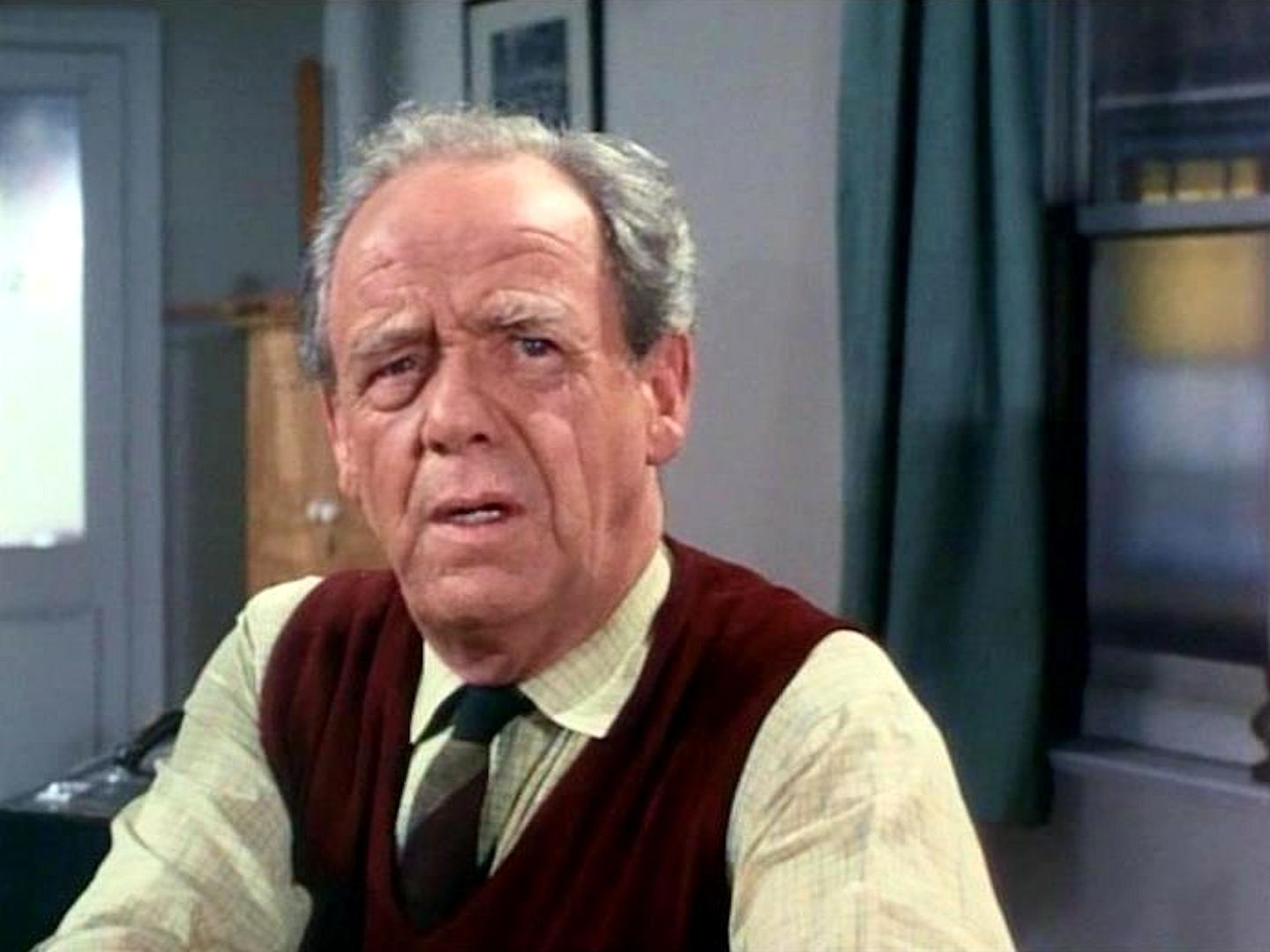 Screenshot from the 1966 'The House on Dragon's Rock' episode of The Saint (1962-1969) (1) featuring Mervyn Johns
