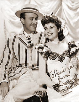 Vic Oliver (as Sam Kahn) and Margaret Lockwood (as Edie Story) in a photograph from I'll Be Your Sweetheart (1945) (5)