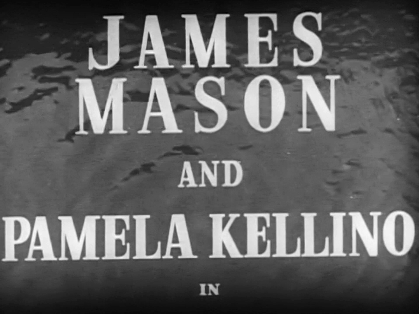 Main title from I Met a Murderer (1939) (5). James Mason and Pamela Kellino in