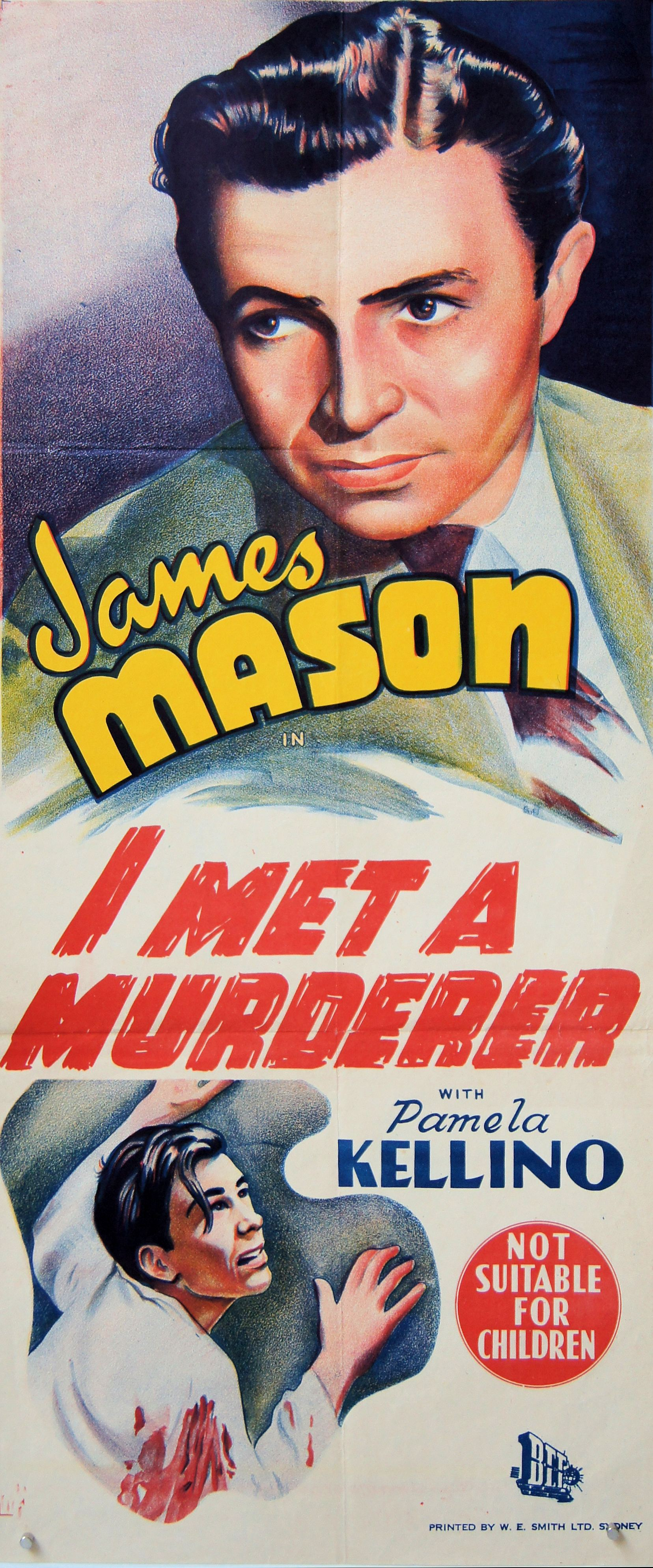 Poster from I Met a Murderer (1939) (1). Not suitable for children