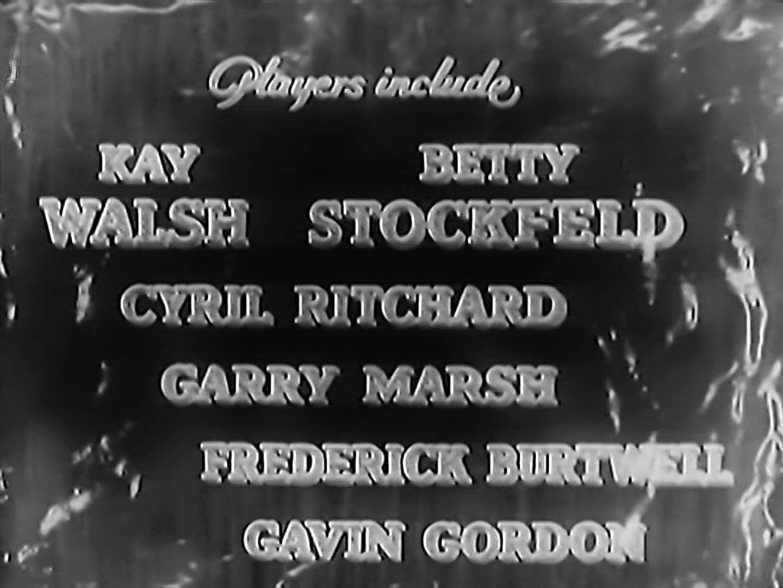 Main title from I See Ice! (1938) (6). Players include Kay Walsh, Betty Stockfeld, Cyril Ritchard, Garry Marsh, Frederick Burtwell, Gavin Gordon