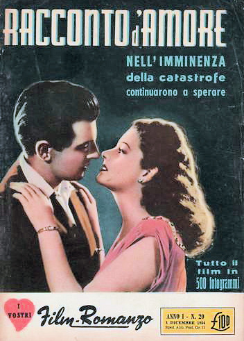 I Vostri Film Romanzo magazine with Margaret Lockwood in Love Story.  1954.  (Italian)