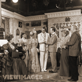 The final scene from Anthony Asquith's screen adaptation of Oscar Wilde's play, 'The Importance Of Being Earnest'. Starring Edith Evans, Dorothy Tutin, Joan Greenwood, Michael Redgrave, Michael Denison, Margaret Rutherford and Miles Malleson