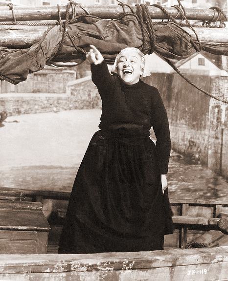 Francoise Rosay (as Lanec Florrie) in a photograph from Johnny Frenchman (1945) (2)