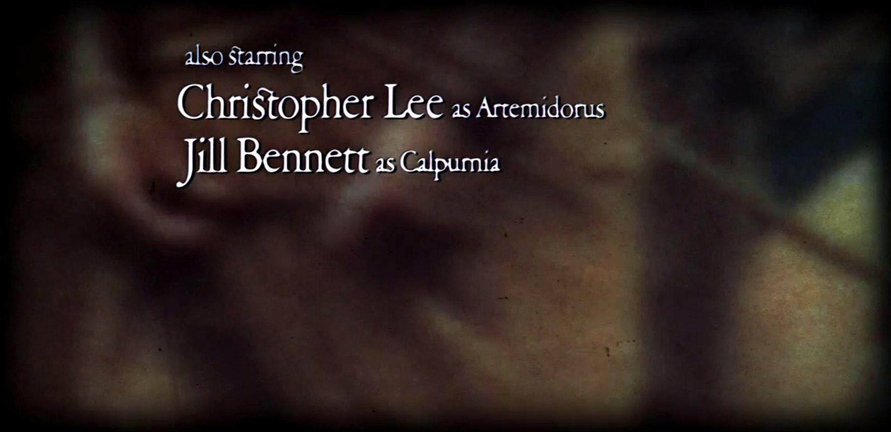 Main title from Julius Caesar (1970) (11)  Also starring Christopher Lee as Artemidorus Jill Bennett as Calpurnia