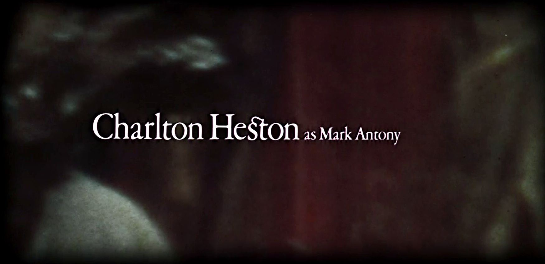 Main title from Julius Caesar (1970) (4)  Charlton Heston as Mark Antony