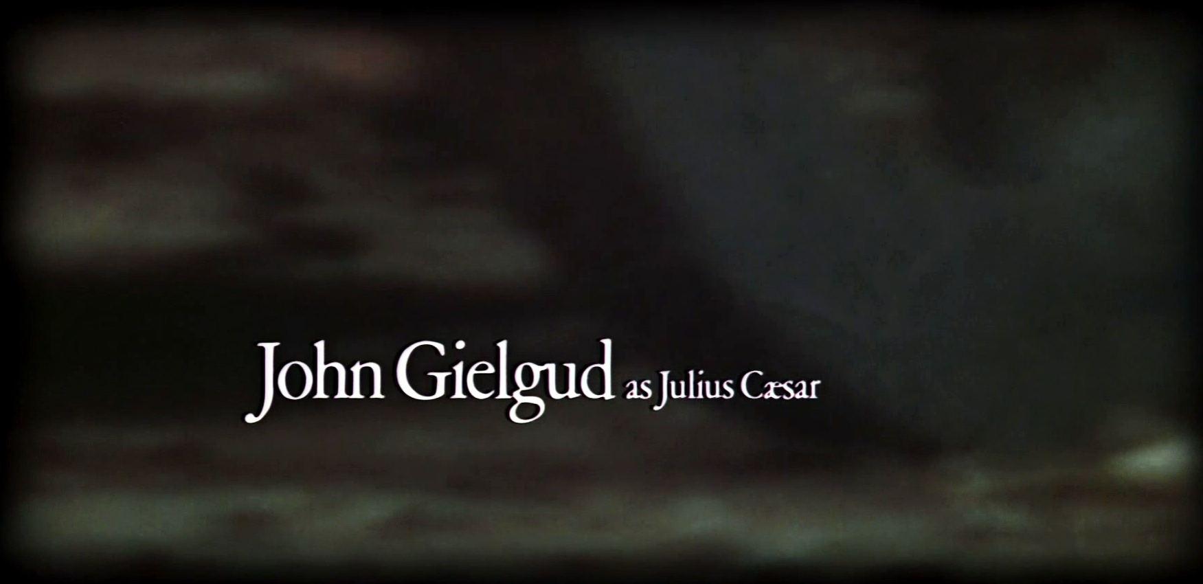 Main title from Julius Caesar (1970) (6)  John Gielgud as Julius Caesar