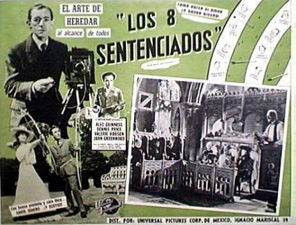 Mexican lobby card from Kind Hearts and Coronets (1949) (1)