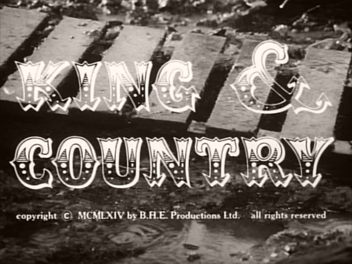 Main title from King & Country (1964).  Copyright 1964 by BHE Productions Ltd