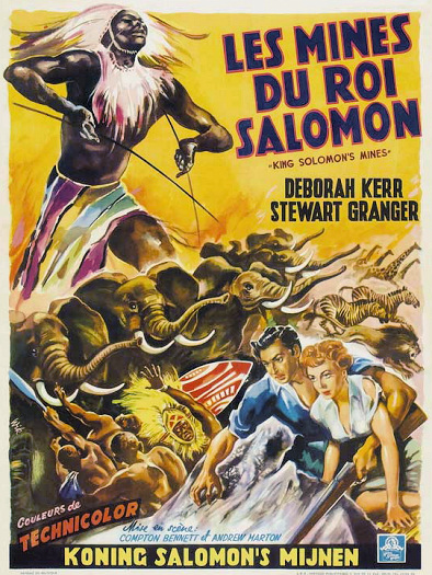 Belgian poster for King Solomon's Mines (1950) (1)