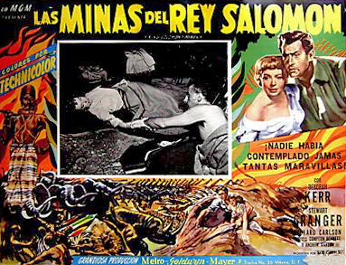 Mexican lobby card from King Solomon's Mines (1950) (1)