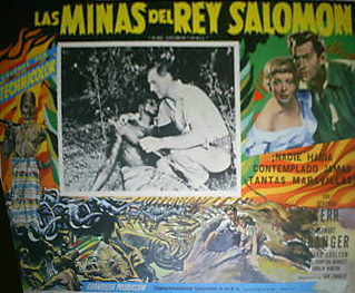 Mexican lobby card from King Solomon's Mines (1950) (2)
