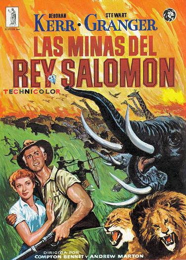 Spanish poster for King Solomon's Mines (1950) (1)