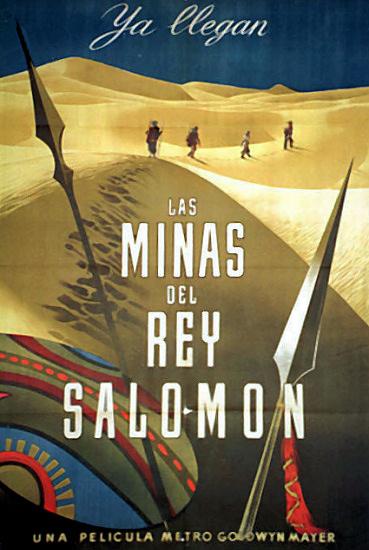 Spanish poster for King Solomon's Mines (1950) (3)
