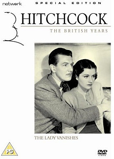 Michael Redgrave (as Gilbert Redman) and Margaret Lockwood (as Iris Matilda Henderson) in a DVD cover of The Lady Vanishes (1938) (11)