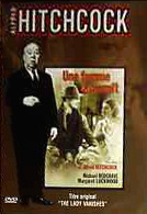 Alfred Hitchcock in a French DVD cover of The Lady Vanishes (1938) (2)