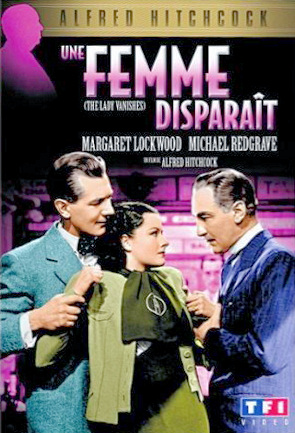 Michael Redgrave (as Gilbert Redman) and Margaret Lockwood (as Iris Matilda Henderson) in a French DVD cover of The Lady Vanishes (1938) (3)