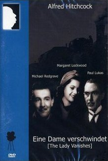 Michael Redgrave (as Gilbert Redman), Margaret Lockwood (as Iris Matilda Henderson) and Paul Lukas (as Dr Hartz) in a German DVD cover of The Lady Vanishes (1938) (1)