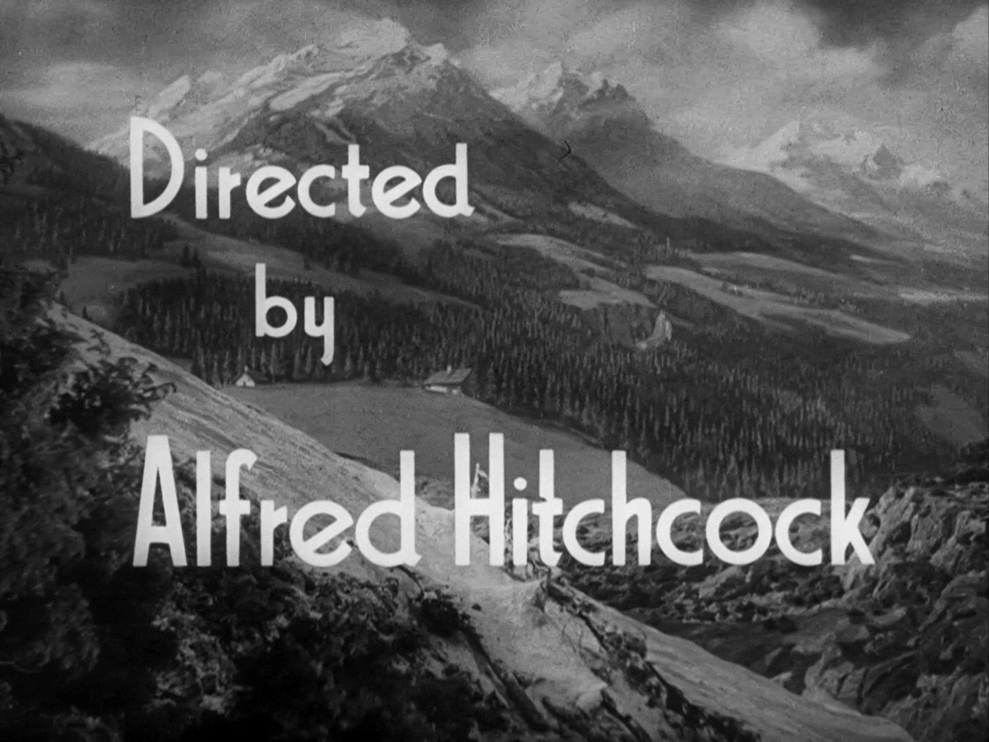 Main title from The Lady Vanishes (1938) (3). Directed by Alfred Hitchcock