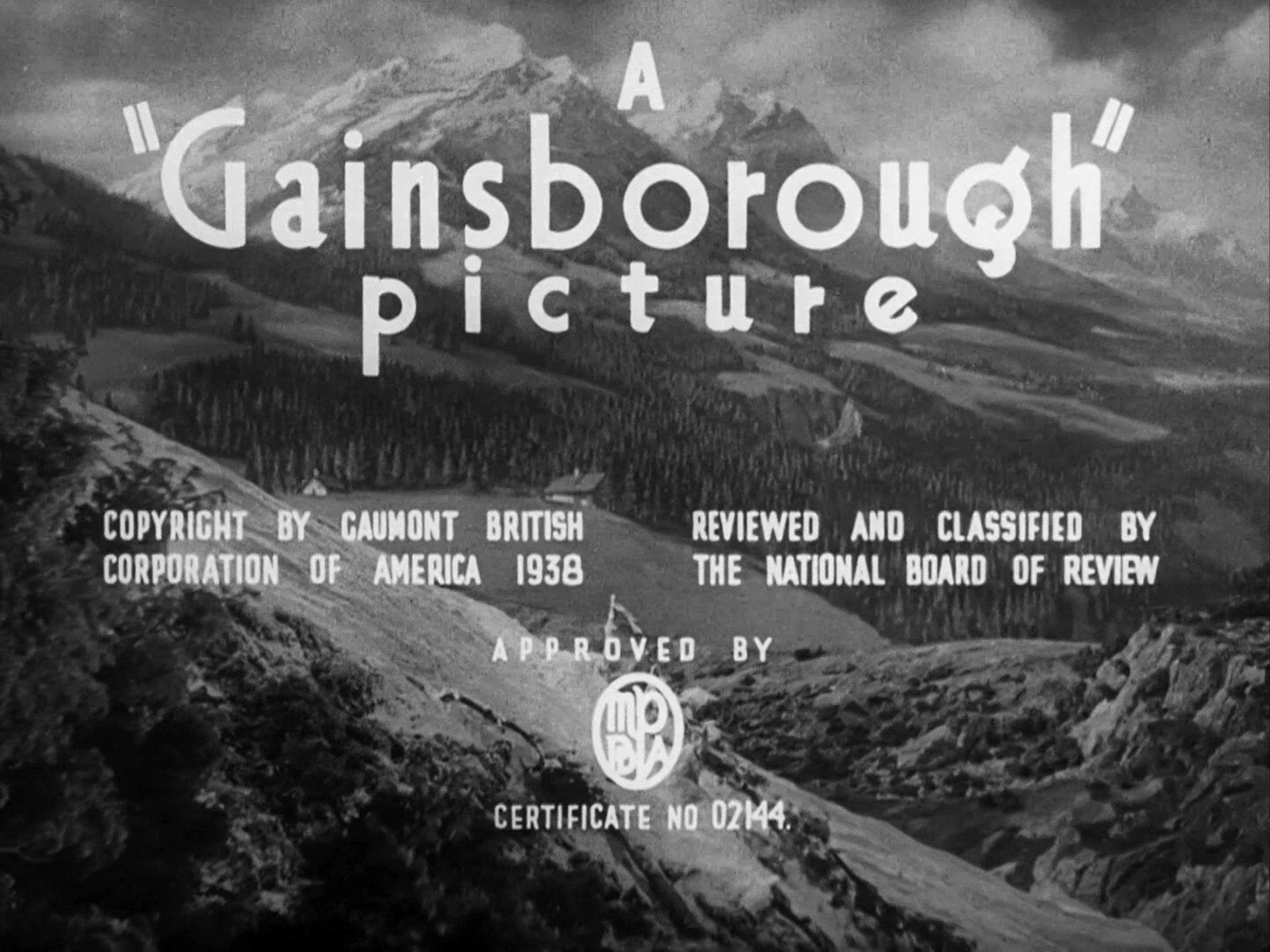 Main title from The Lady Vanishes (1938) (5). A Gainsborough picture