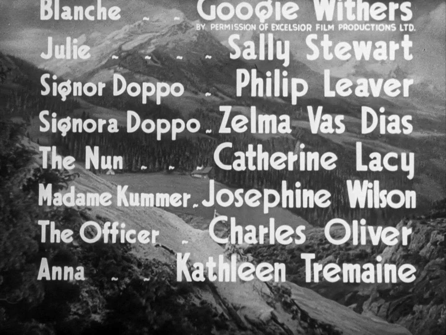 Main title from The Lady Vanishes (1938) (8). Catherine Lacey, Josephine Wilson, Charles Oliver, Kathleen Tremaine